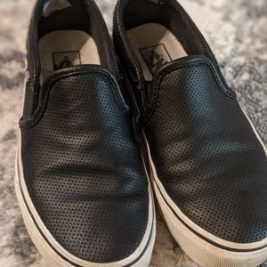 Womens Vans Asher Perforated Slip Ons